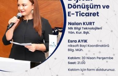 Nalan KURT 'un Kaleminden. Dijital Dönüşüm ve E-ticaret konulu online seminerimiz Yönetim Kurulu Başkanımız Nalan Kurt'un katılımıyla düzenlendi.