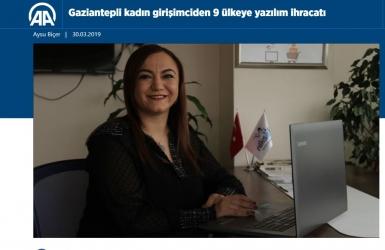 Nalan KURT 'un Kaleminden. Gaziantepli Kadın Girişimciden 9 Ülkeye Yazılım İhracatı