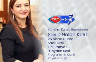Nalan KURT 'un Kaleminden. TRT Radyo 1 Hayatın Sesi Programına Konuk Olduk